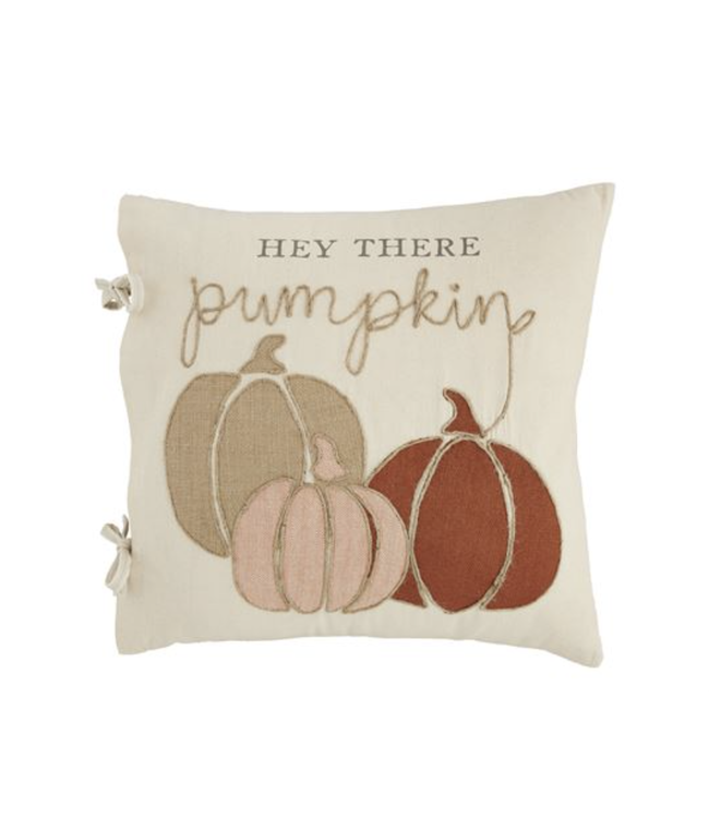 MudPie Hey There Pumpkin Patch Pillow