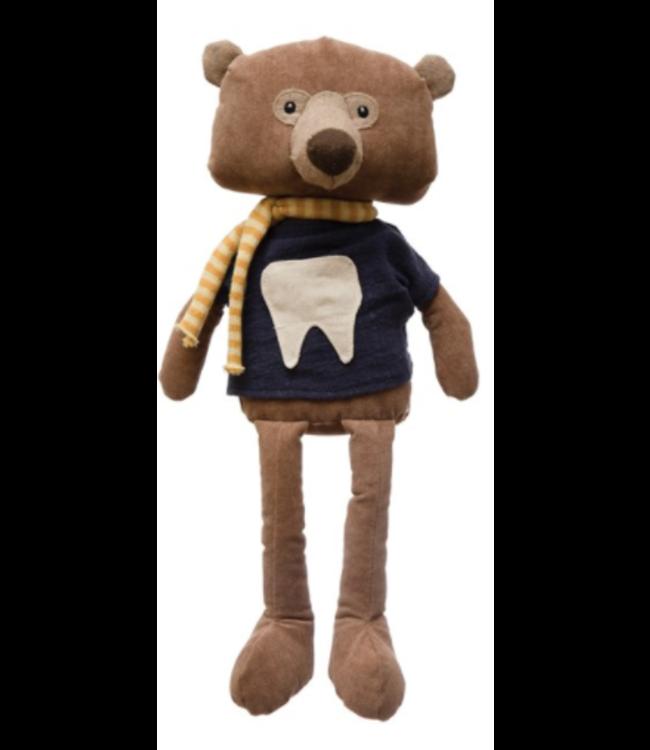 Creative Co-Op Fabric Bear Tooth Fairy Plush
