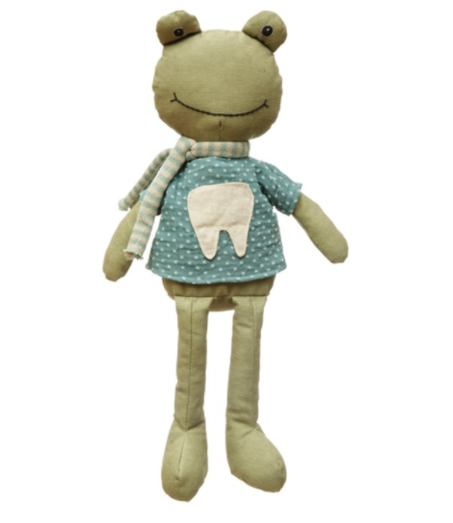 Creative Co-Op Fabric Frog Tooth Fairy Plush