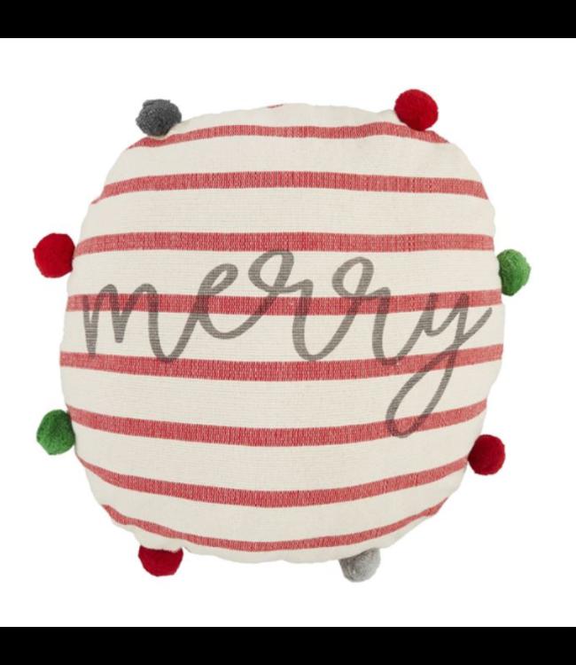 MudPie Merry Round Pillow