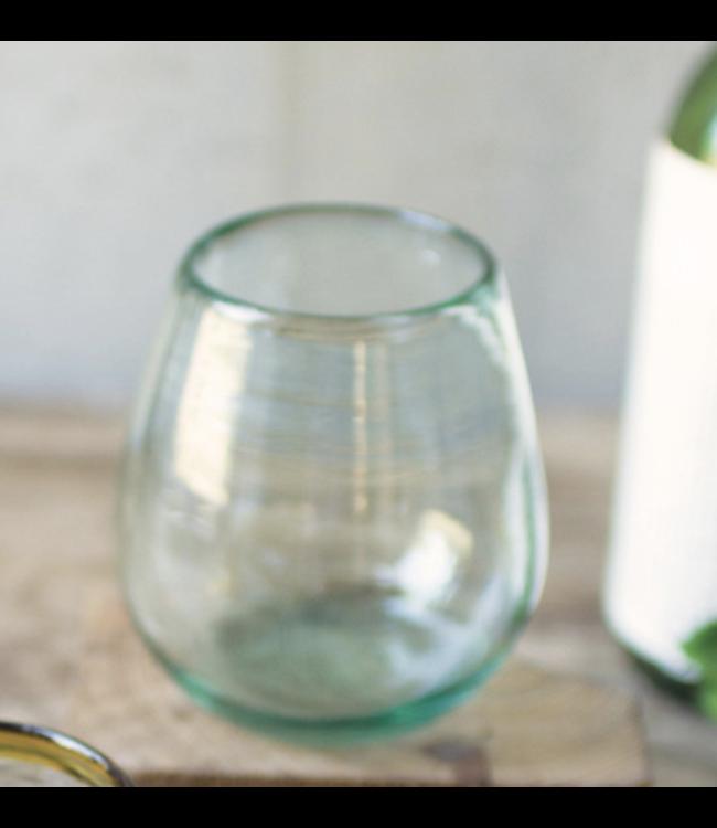 Kalalou Stemless Clear Wine Glass