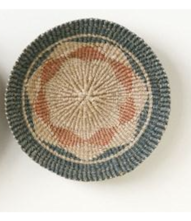 """Creative Co-Op 16""""Round Hand-Woven Abaca Wall Basket- Green"""