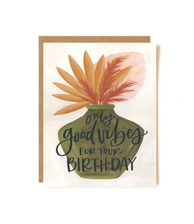 1Canoe2 Good Vibes Birthday Card