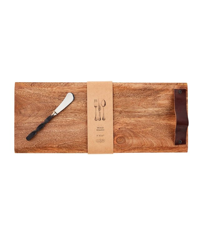 "MudPie Rectangle Wood Board Set- 7"" x 17"""