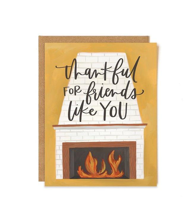 1Canoe2 Friend Fireplace Card