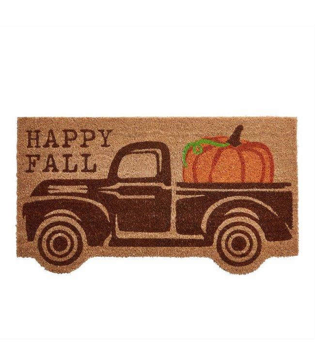 MudPie Fall Truck Doormat