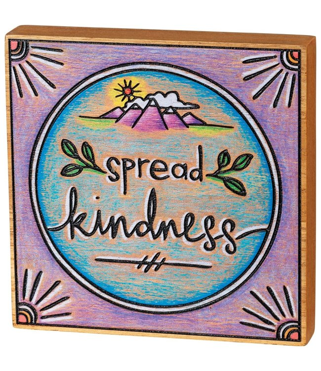 Primitives By Kathy Spread Kindness Block Sign