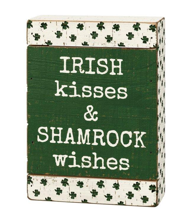 Primitives By Kathy Irish Kisses Block Sign