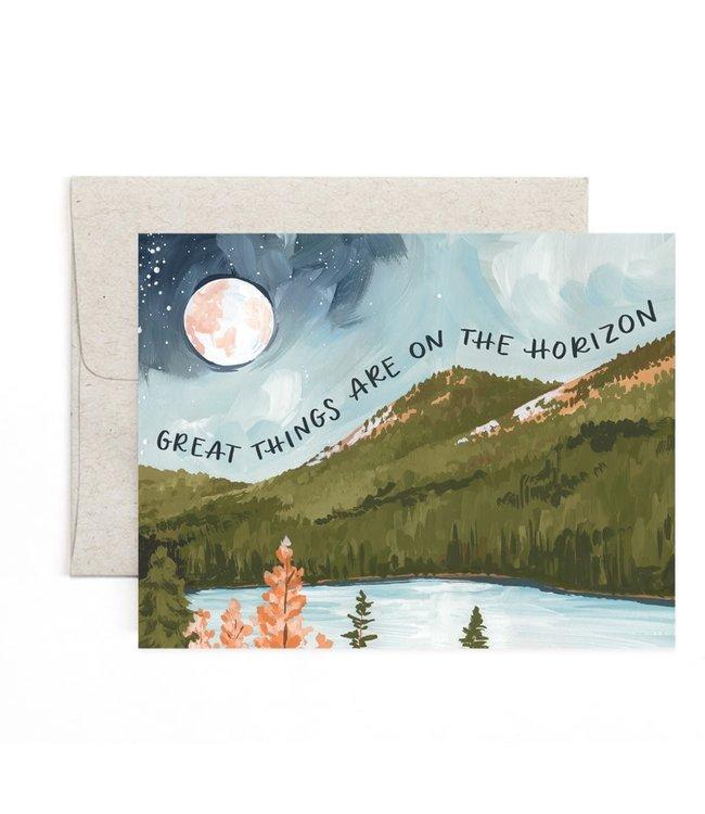 1Canoe2 Alpine Moon Horizon Card