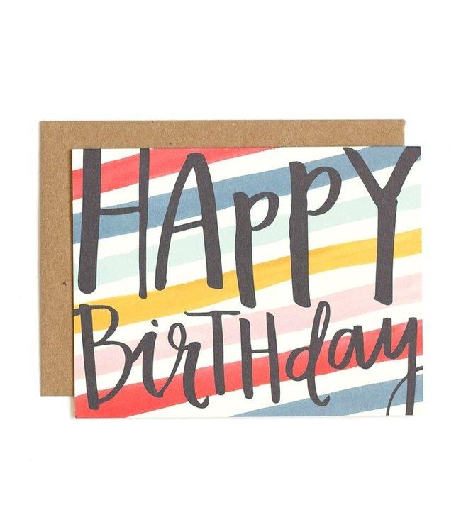 1Canoe2 Birthday Stripes Card