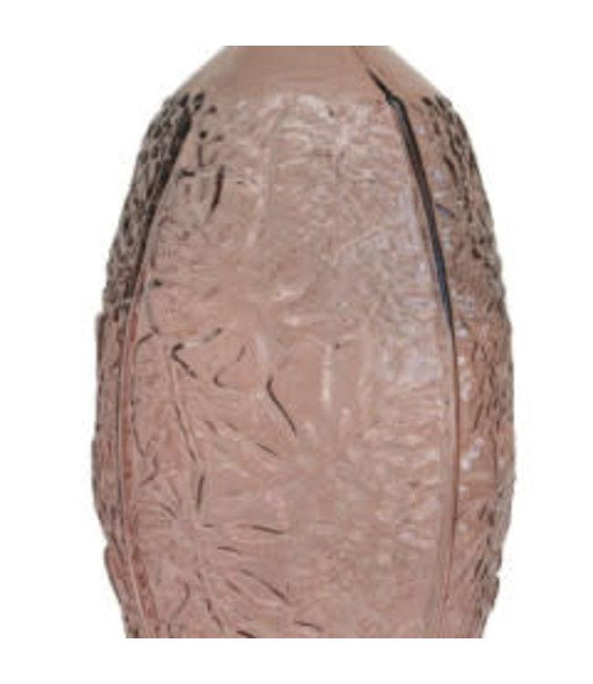 Bloomingville Embossed Glass Vase, Pink