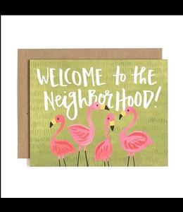 1Canoe2 Welcome to the Neighborhood Flamingo Card