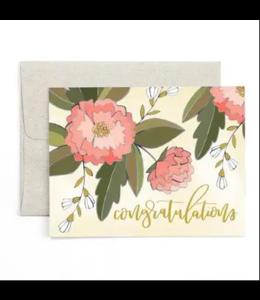 1Canoe2 Congratulations Peonies Card
