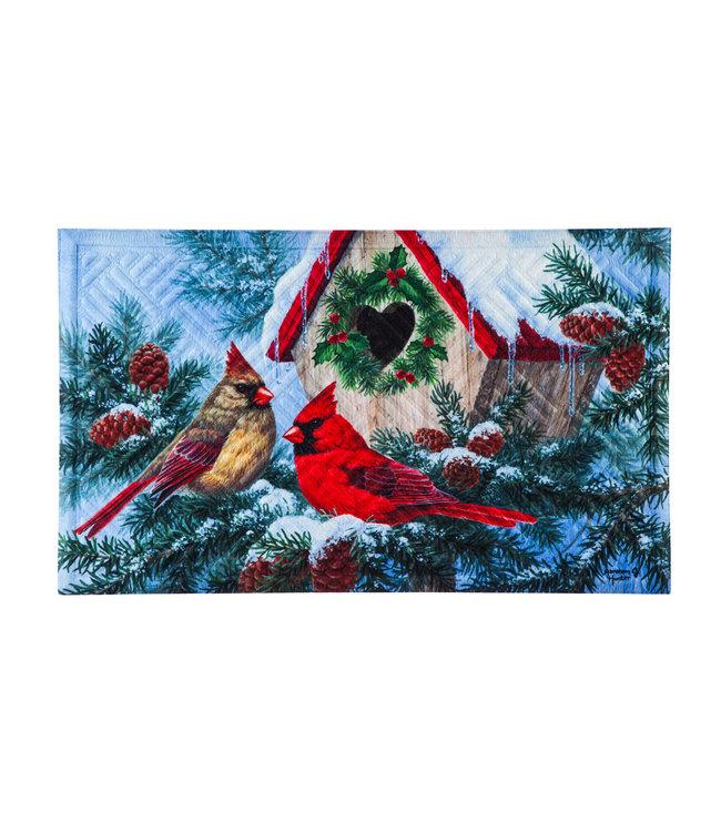 Evergreen Christmas Home Embossed Floor Mat