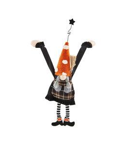 MudPie Girl Dangle Halloween Gnome