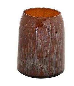 "Creative Co-Op 6-1/2""H Glass Vase, Antique Finish"