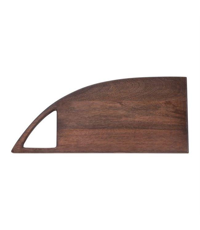 "Bloomingville 20""L x 9""W Mango Wood Cheese/Cutting Board with Handle, Walnut Finish"