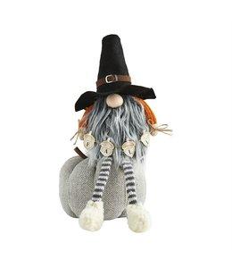 MudPie Pumpkin Gnome With Black Hat