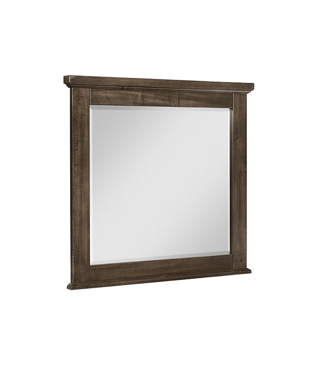 Vaughan-Bassett Cool Rustic Landscape Mirror With Beveled Glass (Mink)