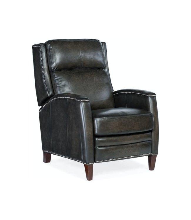 Hooker Furniture Declan Push Back Recliner-Gunmetal