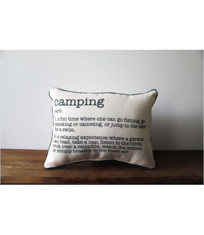 Little Birdie Camping Definition Pillow