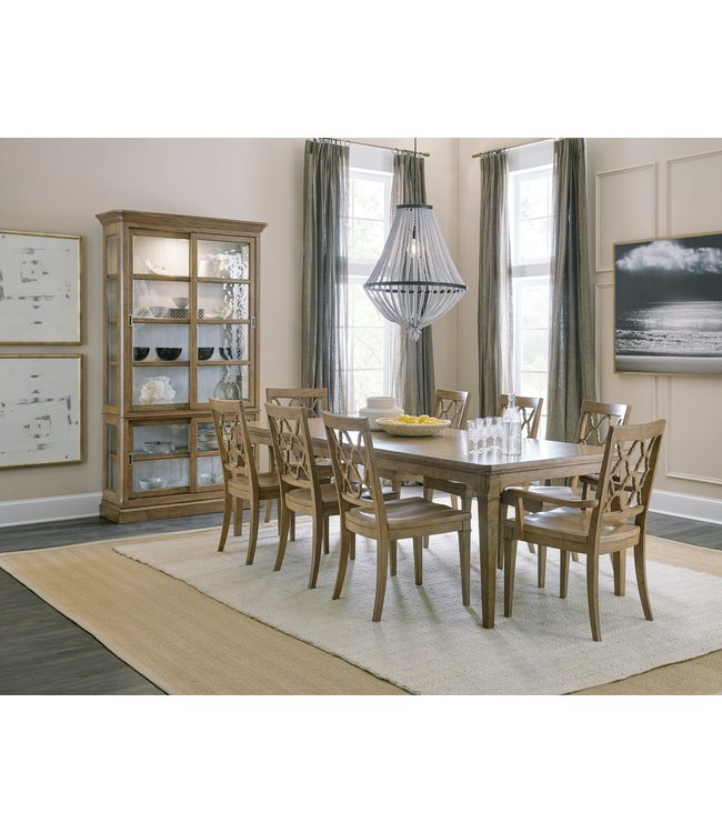 Hooker Furniture Montebello 82in Rectangle Dining Table w/ 1-20in leaf