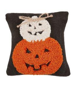 MudPie Two Pumpkins Hook Mini Pillow