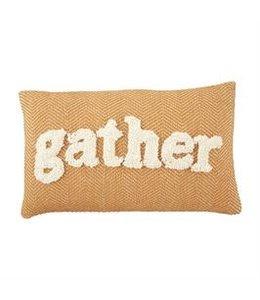 MudPie Gather Tufted Lumbar Pillow