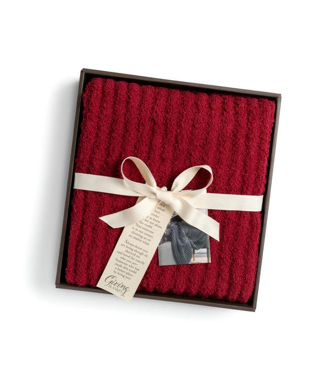 Demdaco Ribbed Blanket - Red