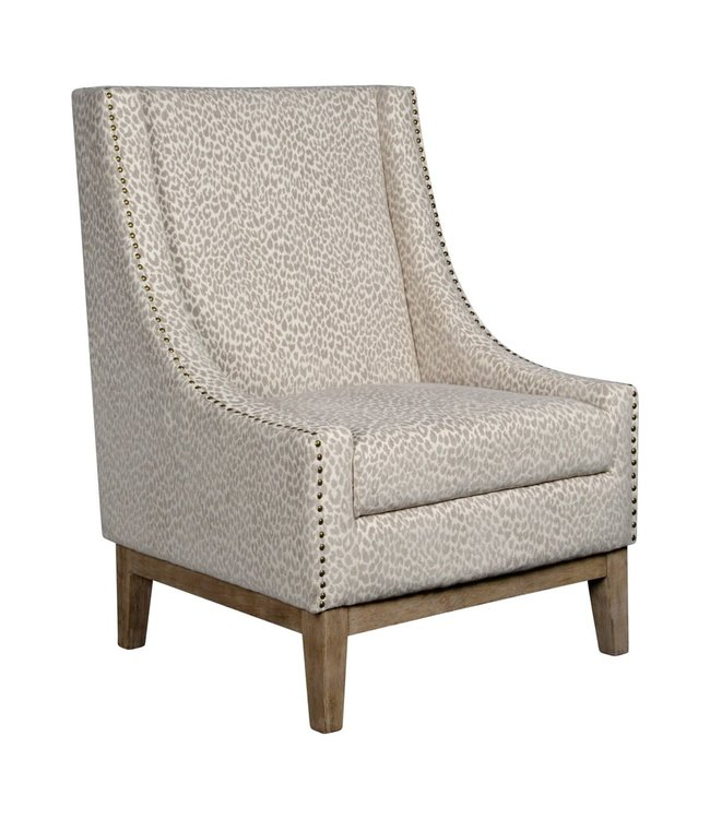 Forty West Jasmine Chair: Snow Leopard