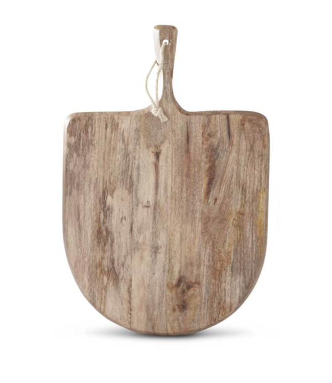 K&K Interiors Large Wood Rounded Cutting Board