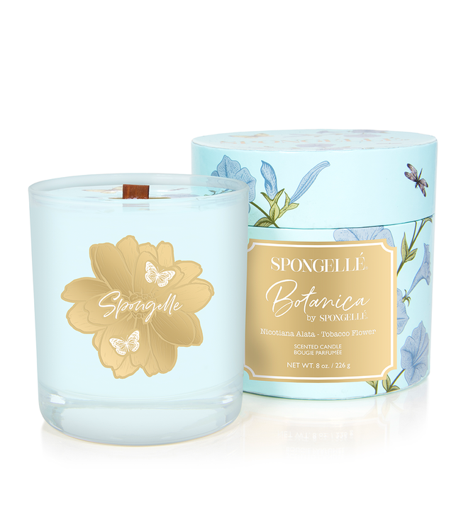 Spongelle Botanica Hand Poured Candle Tobacco Flower