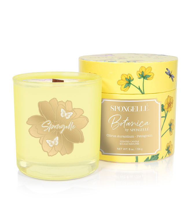 Spongelle Botanica Hand Poured Candle Petitgrain