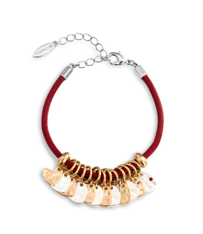 Demdaco Charm Bracelet- Red Heart