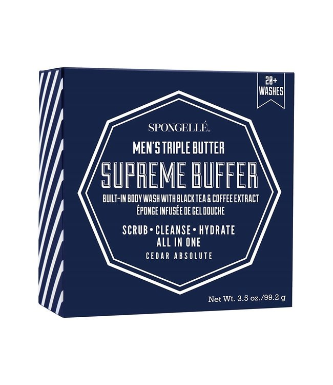 Spongelle Men's Supreme Buffer Black Tea & Coffee Extract