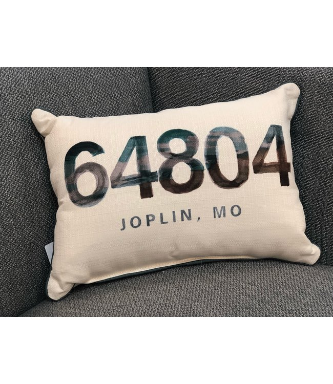Little Birdie Watercolor Beach Zip Code Pillow 64804