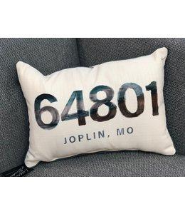 Little Birdie Watercolor Beach Zip Code Pillow 64801