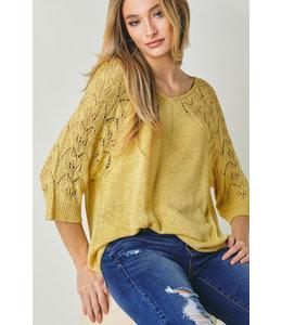 Davi & Dani Yellow Knit Sweater
