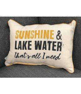 Little Birdie Sunshine & Lake Water Pillow
