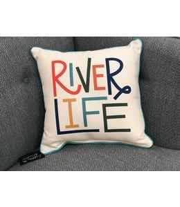 Little Birdie River Life Pillow