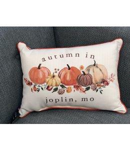 Little Birdie Autumn Pumpkin Hometown Pillow