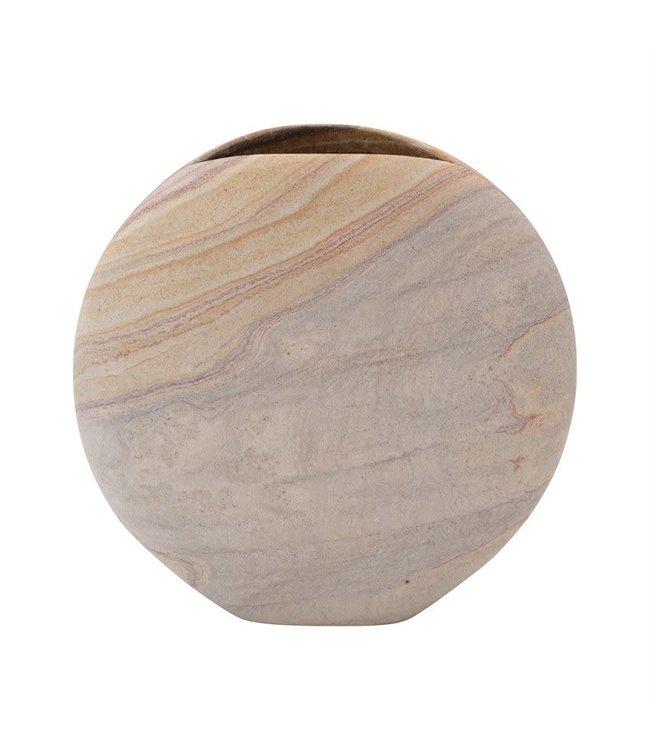 """Bloomingville 10""""L Sandstone Vase, Natural"""
