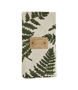 MudPie Green Leaf Chambray Napkin Set