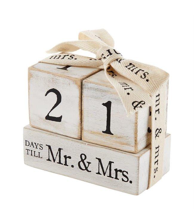 MudPie Countdown to Mr. and Mrs. Block Set