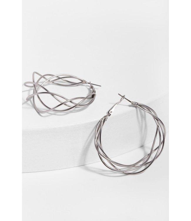Saachi Multi-Surface Earrings: Silver