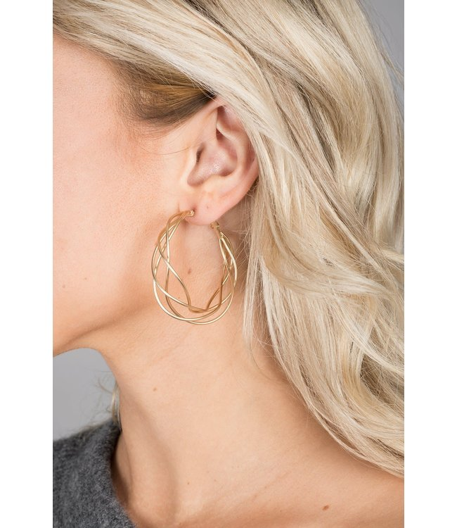 Saachi Multi Surface Earrings: Gold