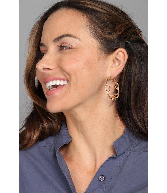Saachi Progression Hoop Earrings: Gold