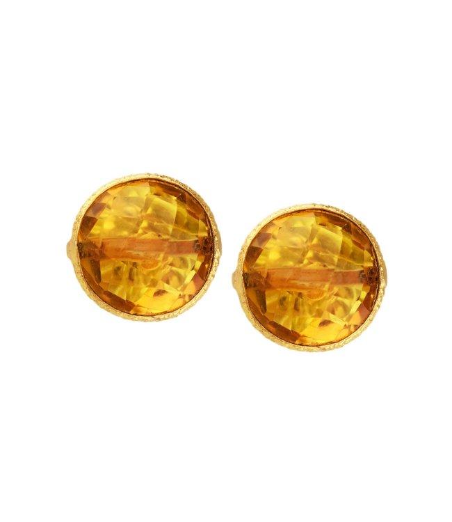 Saachi Gemstone Stud Earrings: Citrine