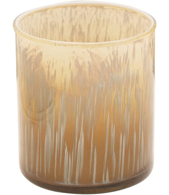 Creative Co-Op Glass Tealight, Light Green