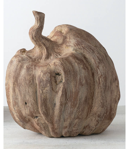 Sullivans Gift Faux Carved Wood Pumpkin- Small